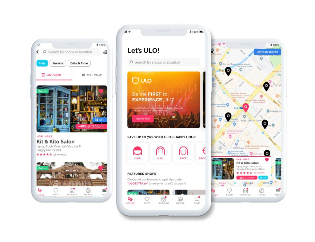 ULO Lifestyle App Screens